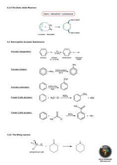 The Diels–Alder Reaction Electrophilic Aromatic Substitution The Wittig reaction