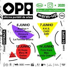 The portable ofice of the arts is now online promoting the best hip-hop portuguese music.