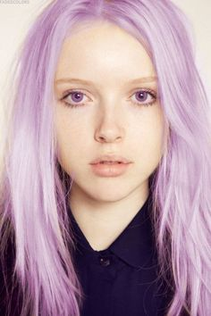mermaid hair  pastel lilac love the purple contacts
