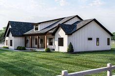 Dream House Exterior, Dream House Plans, Metal Barn House Plans, Barn Style House Plans, Barn Plans, Dream Houses, Modern Farmhouse Exterior, Farmhouse Style, Simple Farmhouse Plans
