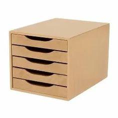 gaveteiro madeira 5 gavetas mdf 3317 - souza