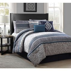 Simon 7-piece Polyester Comforter Set - Overstock™ Shopping - Great Deals on Comforter Sets