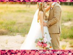 Full-Length Wedding Veil, White Simple veil with flowercrown by RoseDustBridal