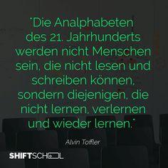 #toffler #digital #wandel #disruption #lernen #zitat #newlearning #digitalleadership
