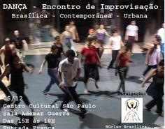 """""""EI! Encontro de Improvisação entre linguagens de dança (Brasílica, Contemporânea e Urbana), no qual alunos e professores de dança do CCSP (Deca Madureira, Cláudia Palma, Luciana Bortoletto e Thiago Negraxa) se reunirão para compartilhar as práticas corporais desenvolvidas nas oficinas do segundo semestre, neste encontro de improvisação, aberto ao público. O encontro também contará com...<br /><a class=""""more-link""""…"""