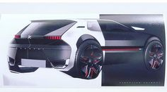 "Peugeot 205 GTI : un concept-car GTI Anniversary Concept"" en 2019 - Voiture Car Design Sketch, Car Sketch, Design Cars, Nail Design, Design Transport, Automobile, Industrial Design Sketch, Futuristic Cars, Car Drawings"