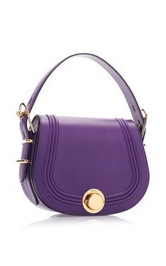 Purple Cross Body Saddle Bag by Bally for Preorder on Moda Operandi