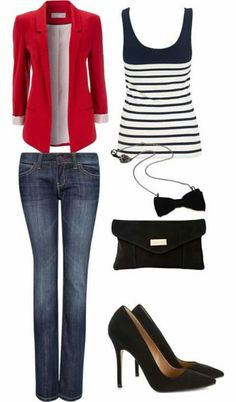 Nice simple look. I like the two-tone on the tank top, because it adds interest and pulls it out of basic/boring.