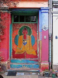 Very decorative door from Hamburg, Germany