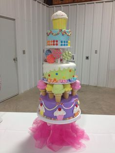 Awesome Birthday Cake  - Cakes by Carrie Tatum Tx  - A little girly, but could change to a boy's carnival theme if carnival food is theme.