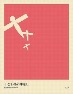 Spirited Away | Minimalist Studio Ghibli posters http://www.flickr.com/photos/lewolf011/6811517462/in/set-72157629522507041
