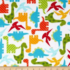 Online Shopping for Home Decor, Apparel, Quilting & Designer Fabric Sewing Kids Clothes, Sewing For Kids, Fabric Patterns, Sewing Patterns, Plaid Flannel Fabric, Blue And Green, Orange Yellow, Dinosaur Images, Dinosaur Fabric