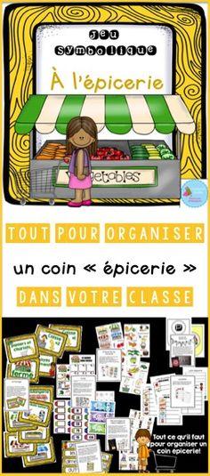 Tout pour organiser un coin épicerie dans votre classe de maternelle