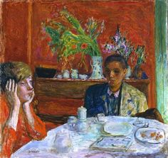 """Pierre Bonnard, """"Après le dîner"""", circa 1920"""