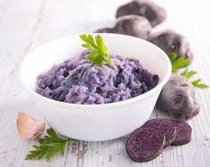 Pur�e de vitelottes violette