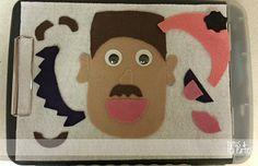 Tutus and Tea Parties: {Toddler Tuesdays} Felt Face Board