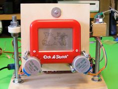 Arduino controlled Etch a Sketch