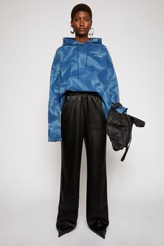 Acne Studios - Women's Sale - Trousers Satin Trousers, Trousers Women, Acne Studios, Ms Mr, Marketing Direct, Pay By Credit Card, Studio S, Black Satin, Rain Jacket