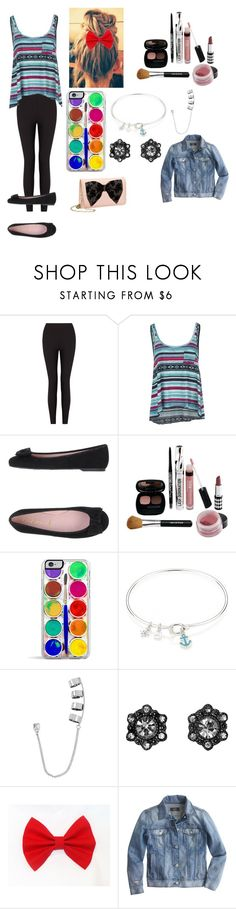 """""""Cute!! <3"""" by i-found-wonderland ❤ liked on Polyvore featuring Lyssé Leggings, Billabong, Pretty Ballerinas, Bare Escentuals, Sperry, Steve Madden, J.Crew and Betsey Johnson"""
