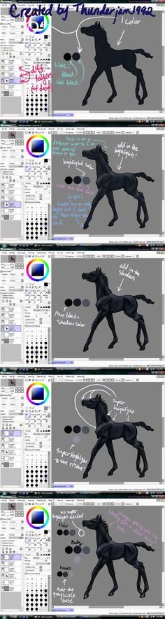 Black Horse Color Tutorial by thunderjam1992 on DeviantArt