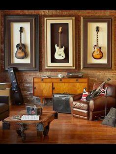 Framed guitars- cool for a music room