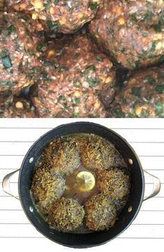Iranian Food - Rice Meatball (Koofteh Berenji) stuffed with walnuts apricots