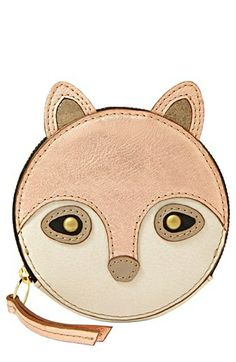 Fossil Fox Coin Purse (Save Now through available at Leather Craft, Leather Bag, Red Leather, Animal Bag, Fox Animal, Diy Sac, Cute Bags, Purse Wallet, Women's Handbags