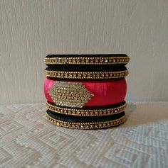 Buy Silk thread bangles Online in India at Best Prices - Women Jewelry Silk Thread Earrings Designs, Silk Thread Bangles Design, Silk Thread Necklace, Silk Bangles, Beaded Necklace Patterns, Bridal Bangles, Thread Jewellery, Diy Jewellery, Handmade Jewelry