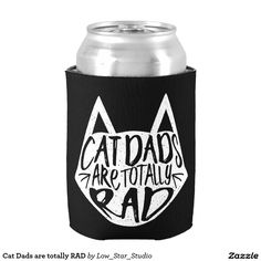 Cat Dads are totally RAD Can Cooler Gifts for Cat People | Cat Shirts | Cat Man | Gifts for Cat Lovers | Funny Cat Gifts | Pet Parent | Crazy Cat Man | Cat Gifts | Cat Stuff | Cat Person | I Love Cats | Cat Lovers | Cat Owner |