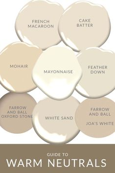 Warm Neutrals as Wall Colors-A Guide Warm Paint Colors, Interior Paint Colors, Paint Colors For Home, Neutral Wall Colors, Neutral Colour Palette, Neutral Wall Paint, Taupe Paint, House Paint Interior, Warm Colours