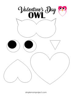 Simple Handmade Valentine's Day Owl Card with FREE Printable Templates - Simple . Simple Handmade Valentine's Day Owl Card with FREE Printable Templates – Simple Mom Project Valentines Bricolage, Kinder Valentines, Valentine Crafts For Kids, Valentines Day Activities, Decoration Creche, Diy Owl Decorations, Printable Crafts, Free Printable, Printable Templates