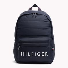 TOMMY HILFIGER Mochila - TOMMY NAVY - TOMMY HILFIGER Bolsos & Accesorios - imagen principal Backpack For Teens, Men's Backpack, Black Backpack, Mochila Adidas, Tommy Hilfiger Outfit, Tommy Hilfiger Wallet, Mochila Tommy, Cute Backpacks, School Backpacks
