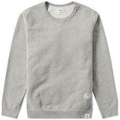 Bedwin & The Heartbreakers Lou Heavyweight Crew Sweat ($310) ❤ liked on Polyvore featuring men's fashion, men's clothing, men's hoodies and men's sweatshirts