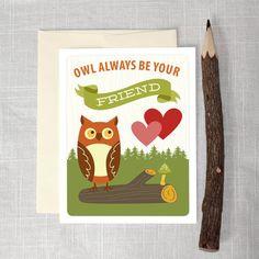 Instant Downoad - Fox and Friends Valentine's Day Cards - Kids DIY Valentine's Day Cards - Woodland Valentine - Owl Valentine