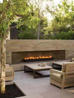 Backyard fireplace ideas outdoor patio fireplace ideas awesome decoration in backyard for outside designs ordinary outdoor Outdoor Gas Fireplace, Outside Fireplace, Linear Fireplace, Backyard Fireplace, Fireplace Design, Simple Fireplace, Fireplace Wall, Fireplace Ideas, Propane Fireplace