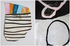 SARAH BOYTS YODER: Hairdos for ⛈ morning. Mohawk and Night Bun, Morning Bun. #mohawk #bun #collage #painting #hair