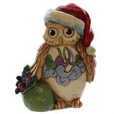 Jim Shore CHRISTMAS OWL MINI 4041105 Bird Wisdom Hoot