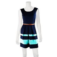 IZ Byer California Colorblock Stripe Dress - Juniors @ kohls