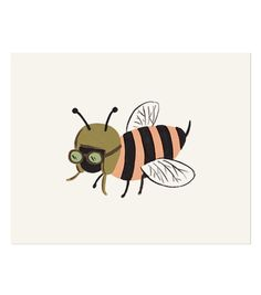 Bug Print - Bee // (for a wall)