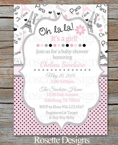 Paris baby shower invitation french baby shower invitation flowers paris baby shower invitation digital printable by rosettedesigns 850 filmwisefo
