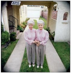 Old twin ladies living together... This will be Lauren and I! LoL