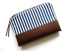 Maritimes Täschchen von Nordwind auf DaWanda.com  - maritim - nautical - stripes - blue - white -