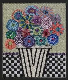 Flowers & Checks, BB 105  FINISHED 2016