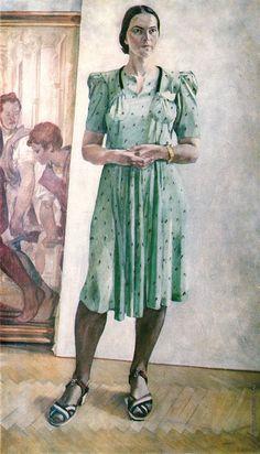 Дейнека А. А. Женский портрет, 1944