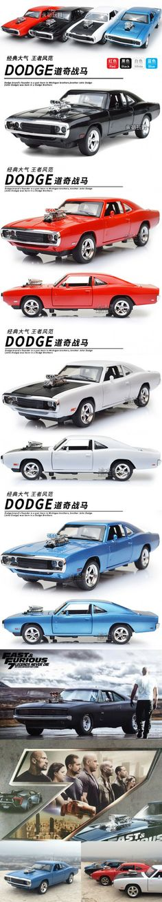 Kids Toys Diecast 1:32 Scale Dodge Charger Car Model oyuncak araba Mini Fast and Furious Toy Cars for Boys Pull Back Cars Gift $23.99