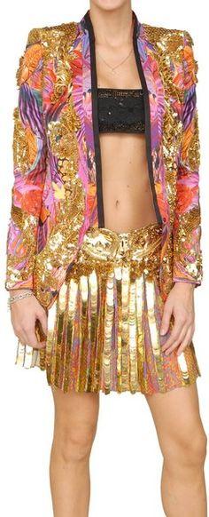 RObertO Cavalli Lush Silk Embroidered Jacket - Lyst