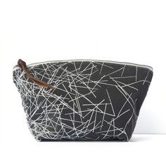Nest Cosmetic Bag Gray, $30, now featured on Fab.
