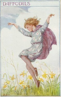 Margaret Tarrant-This series of postcards was also published as a Birthday Book.