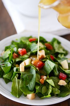 Spinach, Apple & Gouda Salad with Honey Mustard Dressing | Mel's Kitchen Cafe