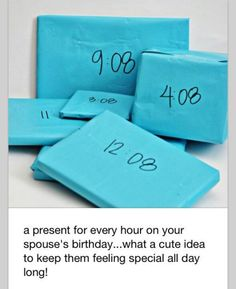 Presents on the hour.each hour on your birthday ! For kids and for Presents on the hour.each hour on your birthday ! For kids and for theme gifts! It's Your Birthday, Birthday Parties, Happy Birthday, Awesome Birthday Gifts, 16th Birthday Present Ideas, 21st Birthday Ideas For Girls Turning 21, Birthday Surprise Ideas, Diy Birthday Gifts For Friends, Creative Birthday Ideas
